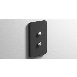 Клейкая монтажная пластина, черная матовая, Sonia 172412, Черный матовый, настенный, Латунь