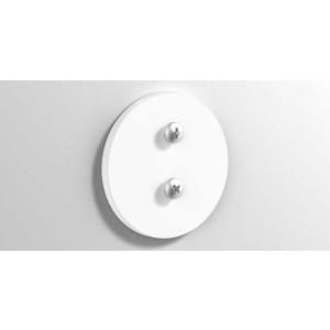 Клейкая круглая монтажная пластина, белая матовая, Sonia 177073, Белый матовый, настенный, Латунь