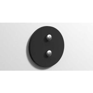 Клейкая круглая монтажная пластина, черная матовая, Sonia 177066, Черный матовый, настенный, Латунь