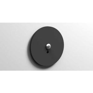 Клейкая монтажная пластина, черная матовая, Sonia 182404, Черный матовый, настенный, Латунь