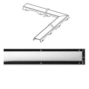 Крышка Tece Steel II 950 мм 611082, Хром, Угловая, Нержавейка