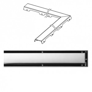Крышка Tece Steel II 1150 мм 611282, Хром, Угловая, Нержавейка