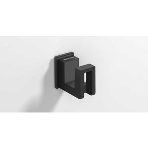 Крючок для ванной, черный матовый, Sonia S-Cube 186433, Черный матовый, настенный, Латунь