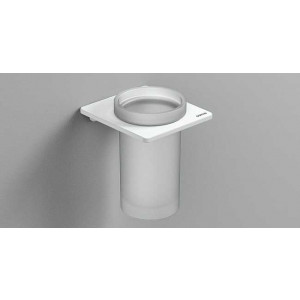 Стаканчик для зубных щеток настенный, белый матовый, Sonia S-Cube 172481, Белый матовый, настенный, Латунь