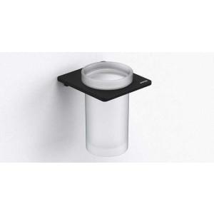 Стаканчик для зубных щеток настенный, черный матовый, Sonia S-Cube 169924, Черный матовый, настенный, Латунь
