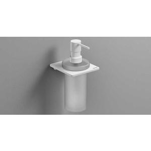 Дозатор для жидкого мыла, белый матовый, Sonia S-Cube 172474, Белый матовый, настенный, Латунь