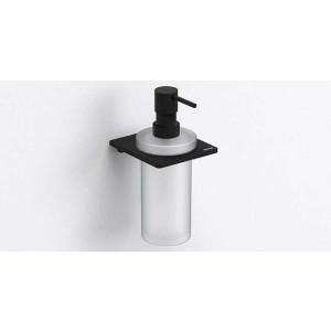 Дозатор для жидкого мыла, черный матовый, Sonia S-Cube 173044, Черный матовый, настенный, Латунь