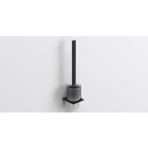 Ёршик для унитаза подвесной, черный матовый, Sonia S-CUBE 169979, Черный матовый, настенный, Латунь