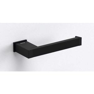 Держатель туалетной бумаги открытый, черный матовый, Sonia S-Cube 173037, Черный матовый, настенный, Латунь