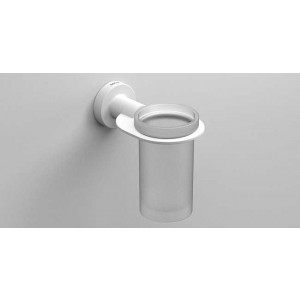 Стаканчик для зубных щеток подвесной, белый матовый, Sonia Tecno Project 166114, Белый матовый, настенный, Латунь