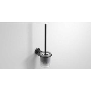 Ершик для унитаза подвесной, черный матовый, Sonia Tecno Project 166299, Черный матовый, настенный, Латунь