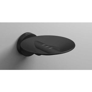 Подвесная мыльница, черная матовая, Sonia Tecno Project 166251, Черный матовый, настенный, Латунь