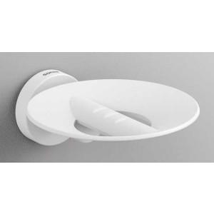 Подвесная мыльница, белая матовая, Sonia Tecno Project 177370, Белый матовый, настенный, Латунь