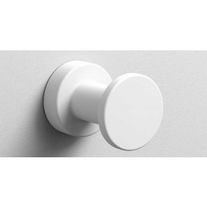 Крючок в ванную комнату Ø35, белый матовый, Sonia Tecno Project 176816, Белый матовый, настенный, Латунь
