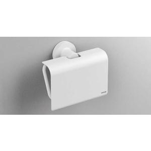 Держатель туалетной бумаги с крышкой, белый матовый, Sonia Tecno Project 166169, Белый матовый, настенный, Латунь