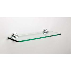 Стеклянная полочка в ванную 500 мм., хром, Sonia Tecno Project 173846, Черный матовый, настенный, Латунь