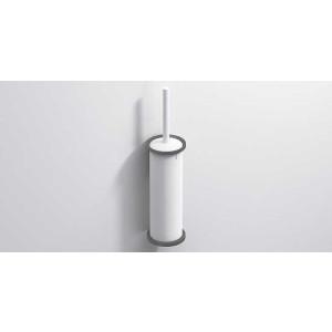 Ершик для унитаза подвесной, белый матовый, Sonia Tecno Project 190461, Белый матовый, настенный, Латунь