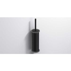 Ершик для унитаза подвесной, черный матовый, Sonia Tecno Project 190454, Черный матовый, настенный, Латунь