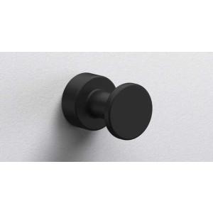 Крючок в ванную комнату Ø25, черный матовый, Sonia Tecno Project 166213, Черный матовый, настенный, Латунь