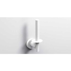 Держатель туалетной бумаги, белый матовый, Sonia Tecno Project 186982, Белый матовый, настенный, Латунь