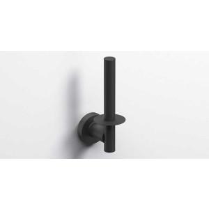 Держатель туалетной бумаги, черный матовый, Sonia Tecno Project 186975, Черный матовый, настенный, Латунь