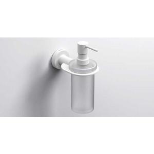 Подвесной дозатор жидкого мыла 195мл., белый матовый, Sonia Tecno Project 166121, Белый матовый, настенный, Латунь