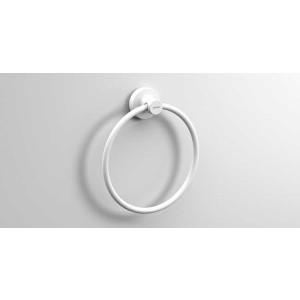 Полотенцедержатель кольцо 180 мм, белый матовый, Sonia Tecno Project 176847, Белый матовый, настенный, Латунь