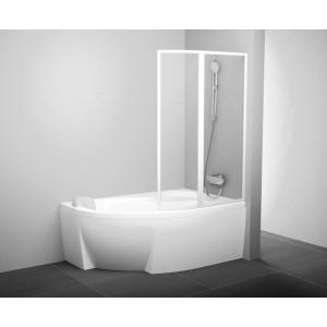 Шторка для ванны Rosa 140 L рейн Ravak 76L7010041