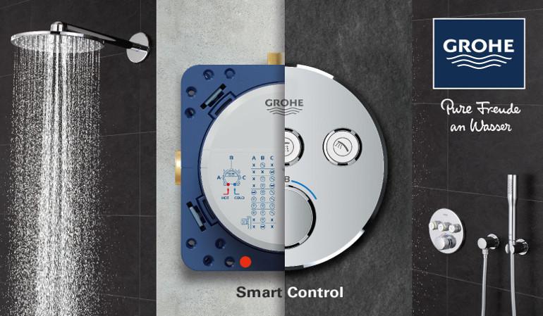 GROHE SmartControl: интуитивное управление нажатием кнопки